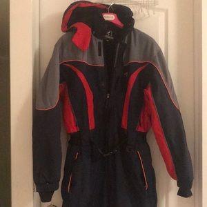 Like new rare one piece heavy duty snowsuit